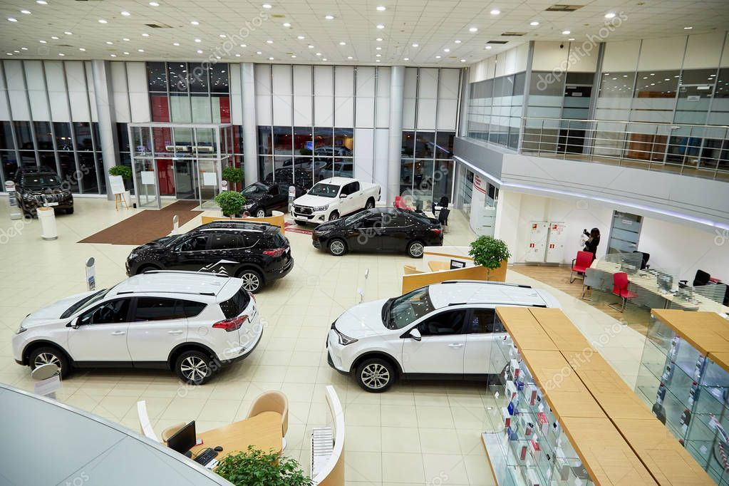 Kazan, Russia October 16, 2018 Cars in showroom of