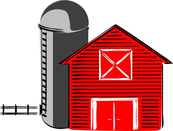 Old Barn Illustration Free Stock Photo