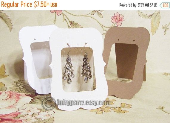 20 Lg Zoe Window 2 5 X 3 Inch Tent Cards Earring Jewelry Display Card Holder Stud Bulk