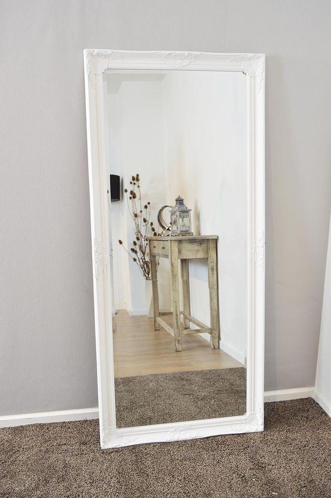 Ornate White Wall Mirror 5ft6