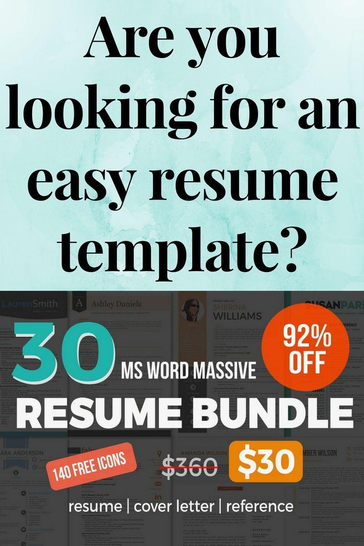30 massive Word resume pack bundle Job interview advice