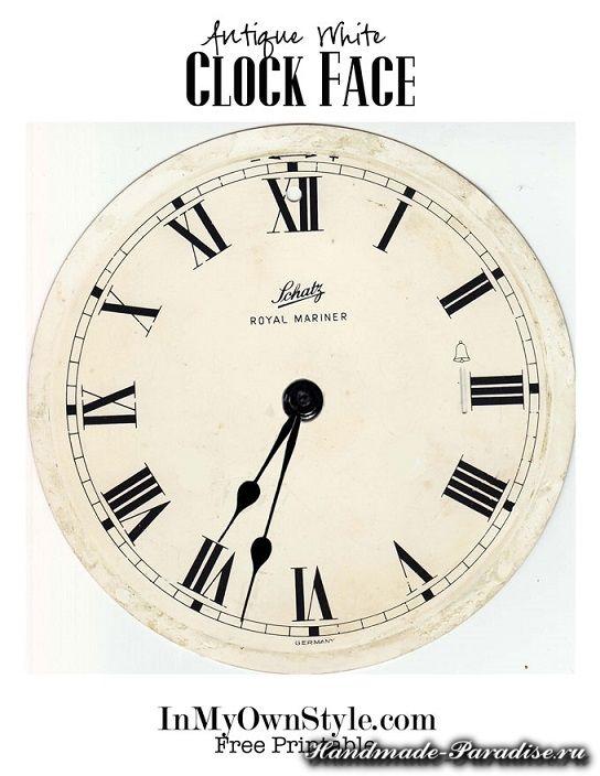 Часы своими руками шаблоны 521