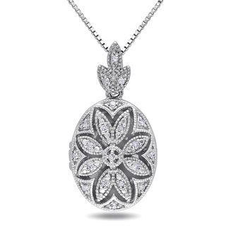 976bf63309fea Miadora Sterling Silver 1/10ct TDW Diamond Necklace (H-I, I2-I3 ...