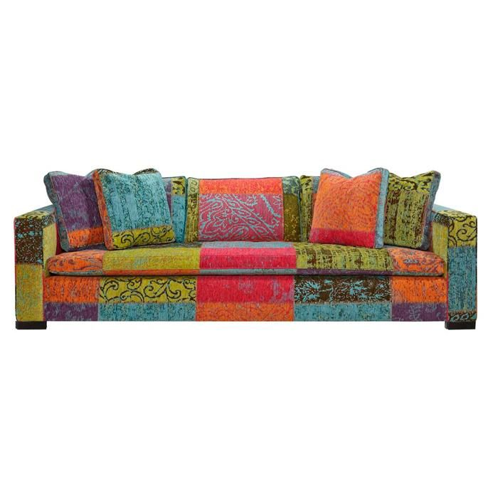 Extra Deep and Long Sofa in Curio Crayon  Nebraska