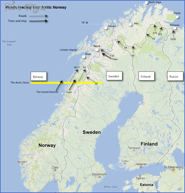 awesome Arctic Circle Norway Sweden and Finland  Tours Maps