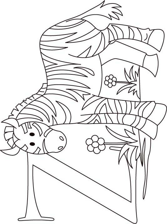 Z For Zebra Coloring Page For Kids Zebra Coloring Pages