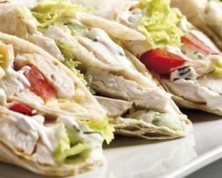Recette de Wraps crémeux allégés au poulet et fromage blanc 0%