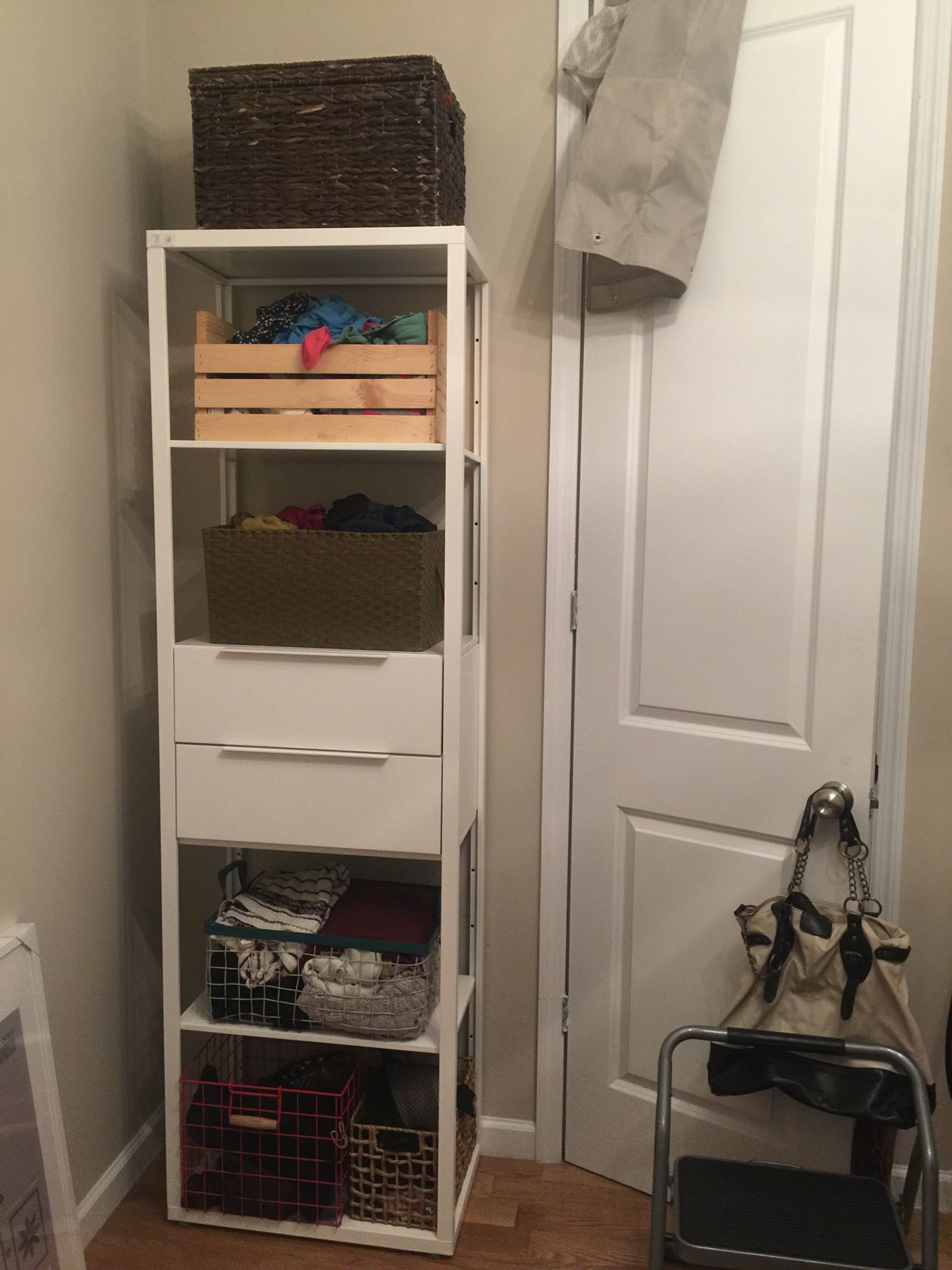 Clothes storage alternative space saving option to dresser From