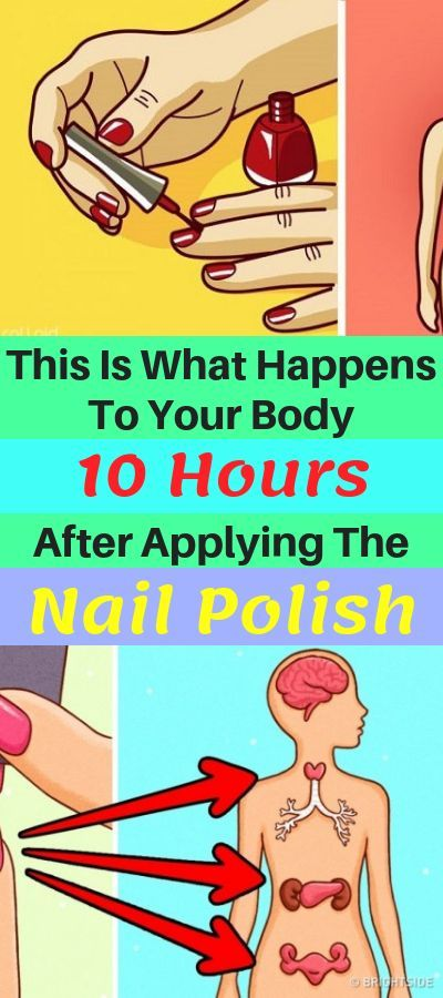 This Is What Happens To Your Body 10 Hours After Applying The Nail Polish