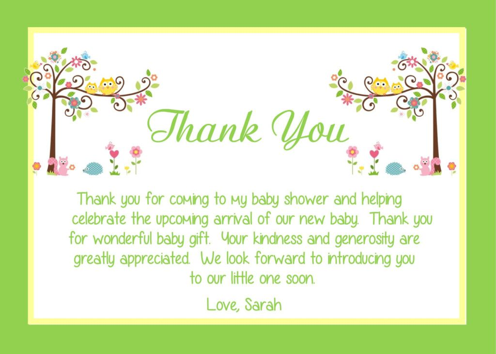 Baby Ser Thank You Card Wording Ideas  All Things Baby