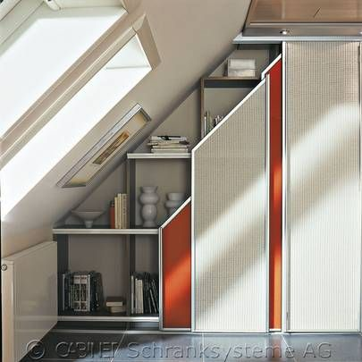 Trendy attic - what a great idea ~ wardrobes in loft eaves Remodel