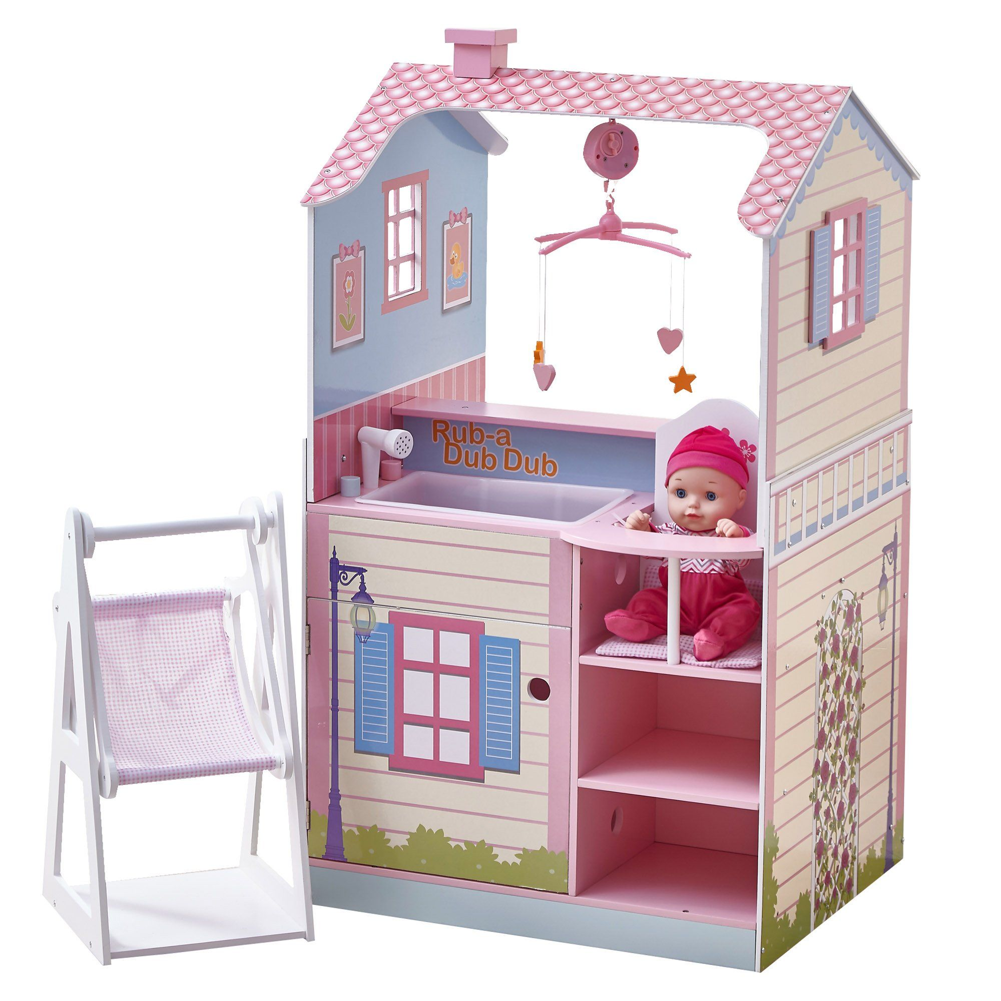 Teamson Kids All in e 18 inch Baby Doll Nursery Station