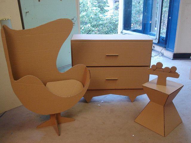 algunos de mis muebles en carton flickr intercambio de fotos