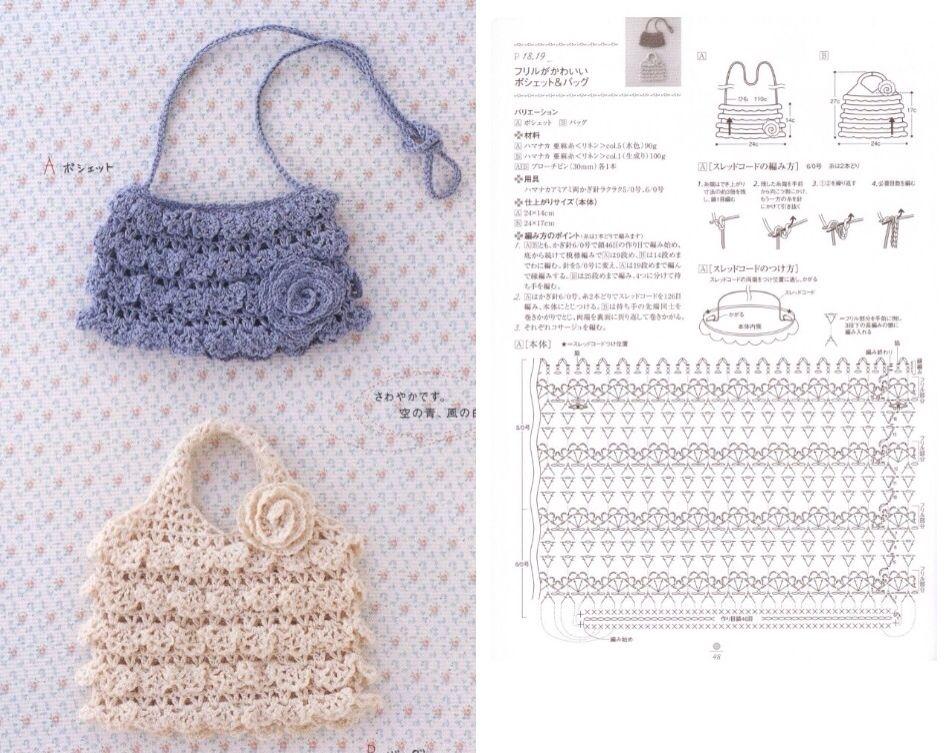 Pin de Raihan en Crochet Bags   Pinterest   Bolsos, Monederos y ...
