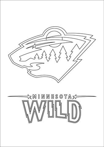Minnesota Wild Logo Coloring Page With Images Minnesota Wild