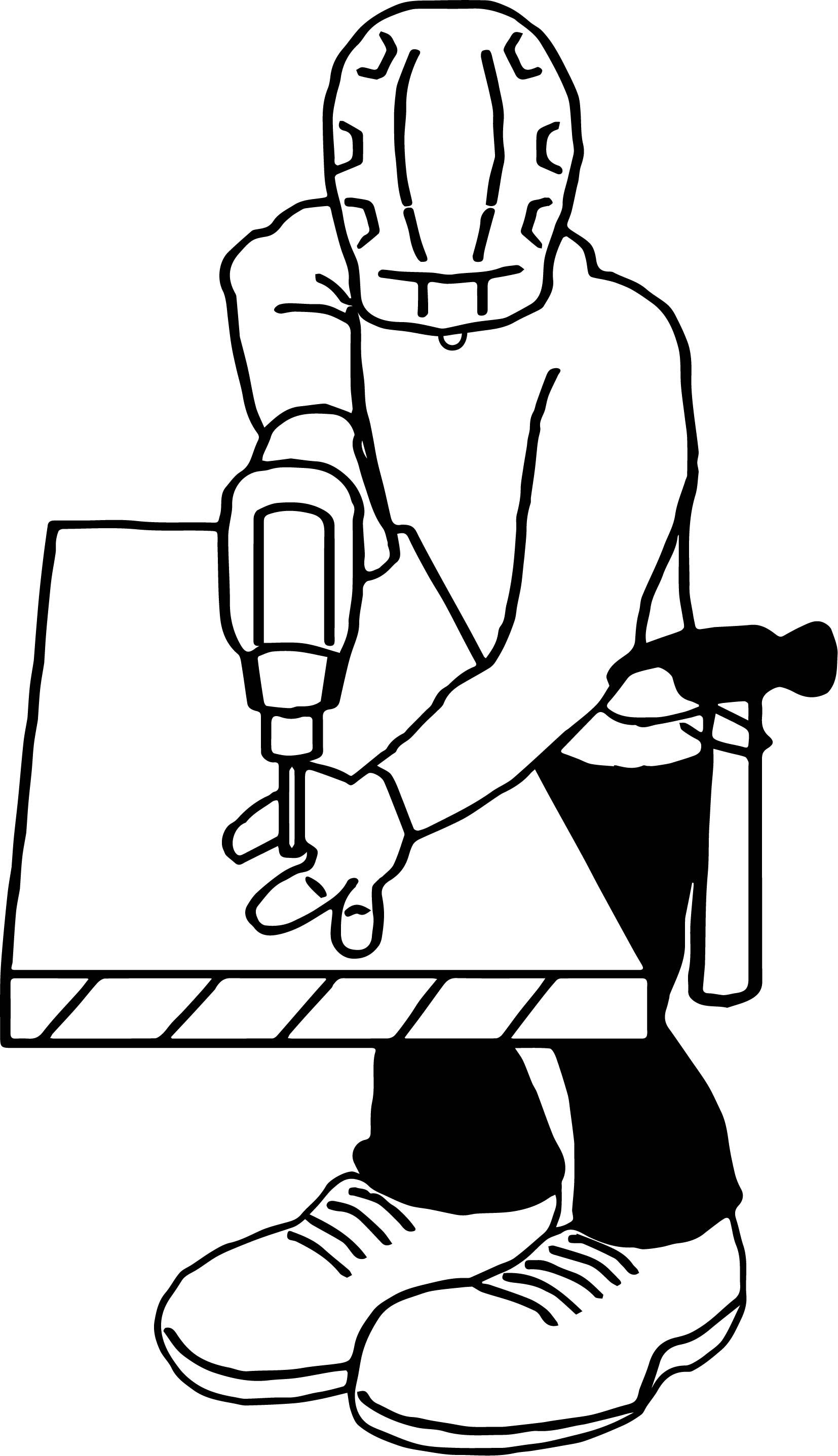 Awesome Carpenter Drill Coloring Page Coloring Pages For Boys