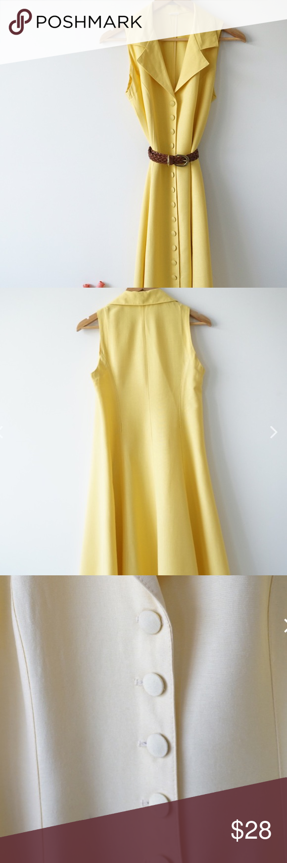 Soldvintage yellow button down dress sold on our instagram add