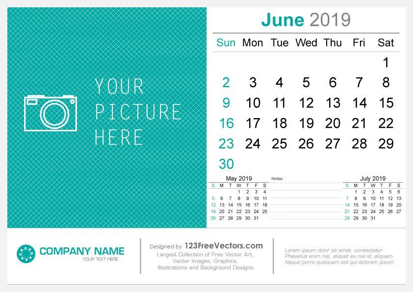 June 2019 Desk Calendar 2019 Calendar Pinterest Calendar, Desk
