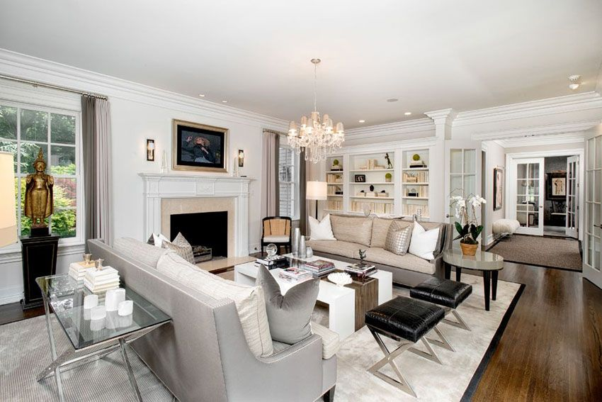 45 Beautifully Decorated Living Rooms (Pictures) | Shelving, Room ...