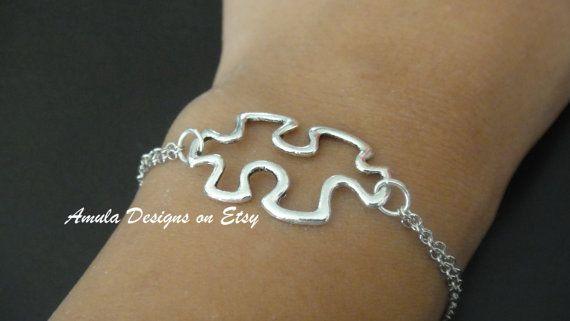 Puzzle Piece Bracelet by amula on Etsy