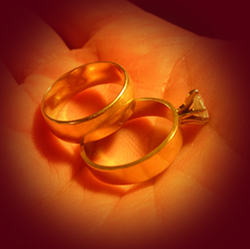 Examples of The Blessing Of The Rings for a wedding ceremony