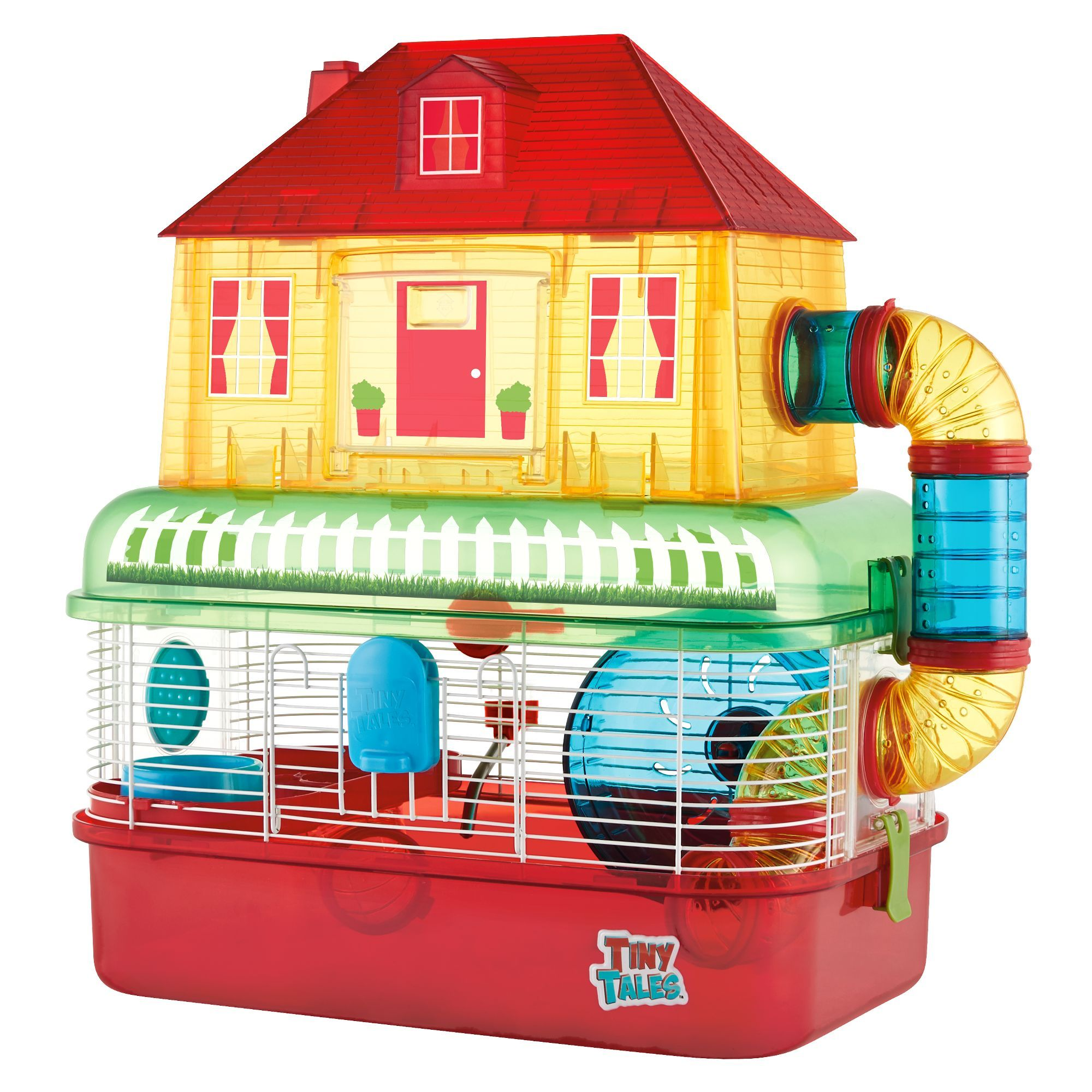 All Living Things Tiny Tales Comfy House Small Pet Habitat Hamster Cages Pets Pet Supplies