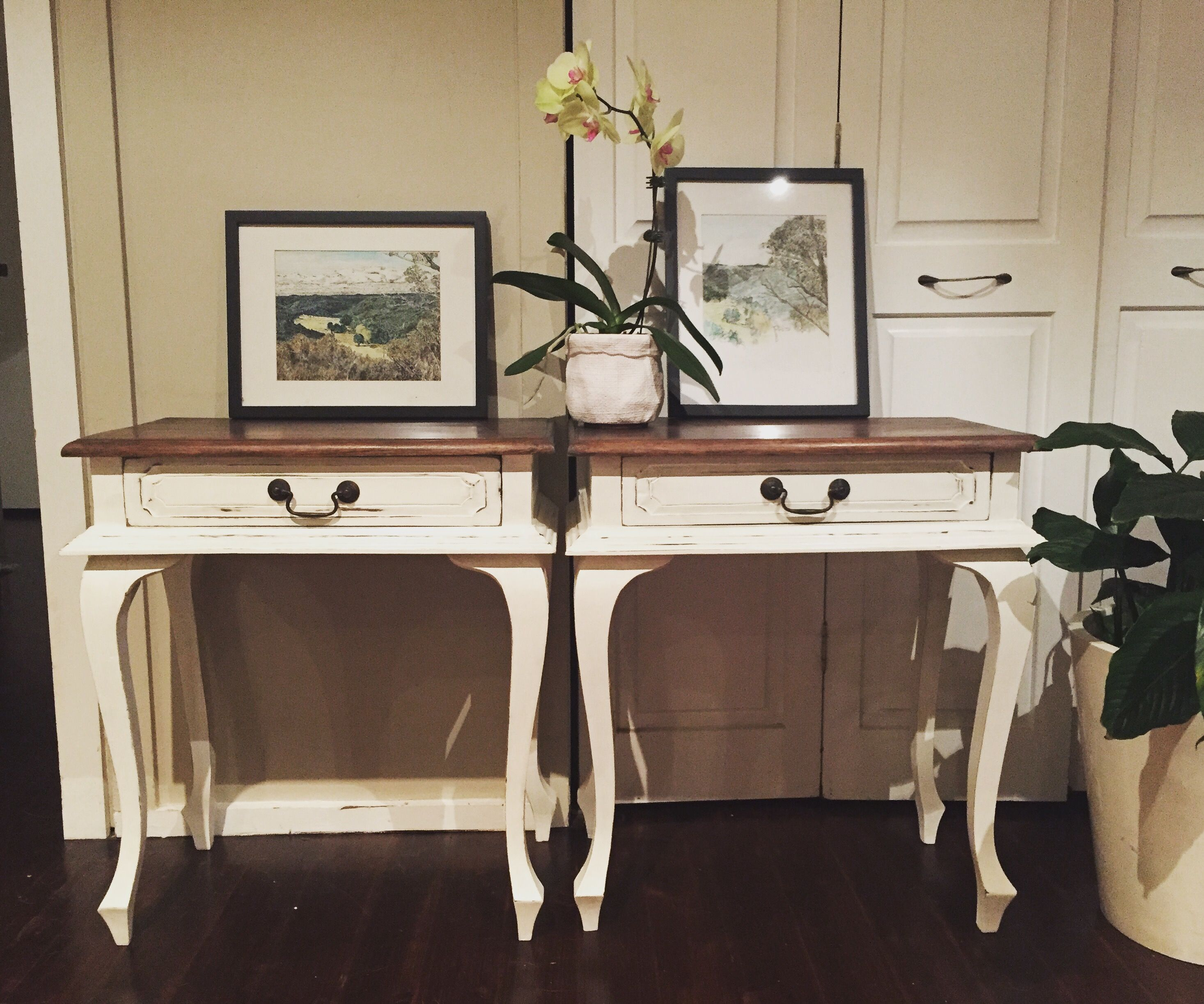 Nightstands / bedside tables painted with Annie Sloan ...