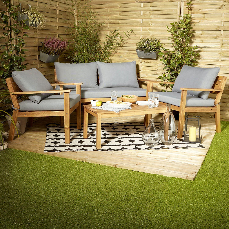 Denia Wooden 4 Seater Coffee Set Garden In 2019