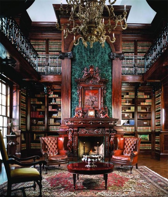 28 Dreamy Home Offices With Libraries For Creative Inspiration: $28.8 Million Chateau La Vie In McLean Virginia 18