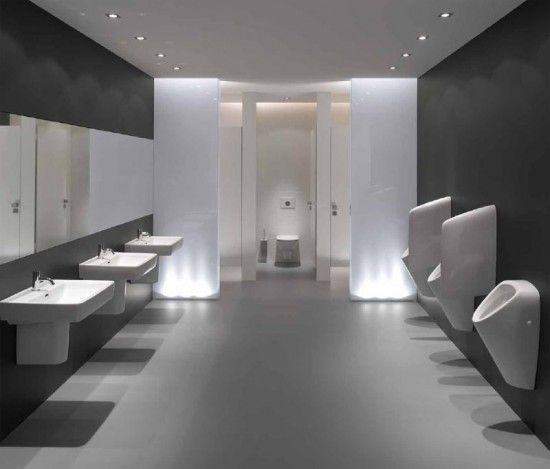 Modern public restrooms google search office toilet for Washroom interior design