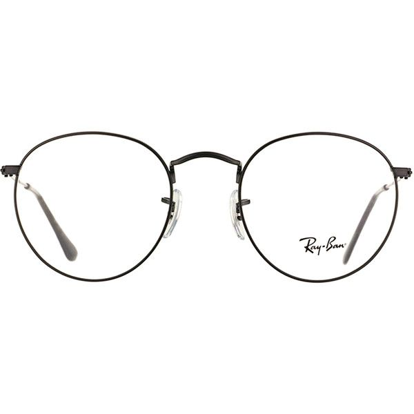 d5bcfd8dd5 Ray-Ban RX 3447V 2503 Matte Black Clubmaster Metal Eyeglasses-50mm ( 160) ❤  liked on Polyvore featuring accessories