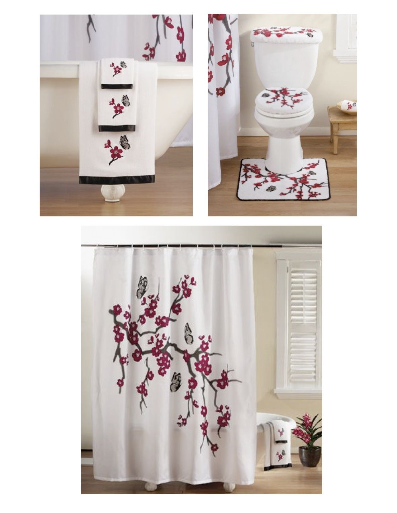 Cherry Blossom Bathroom Set In 2020 With Images Bathroom Sets
