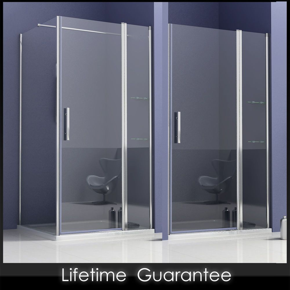 New Pivot walk in shower enclosure glass door screen cubicle ...