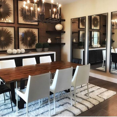 Designology sealed in the warmth for this dining room with the