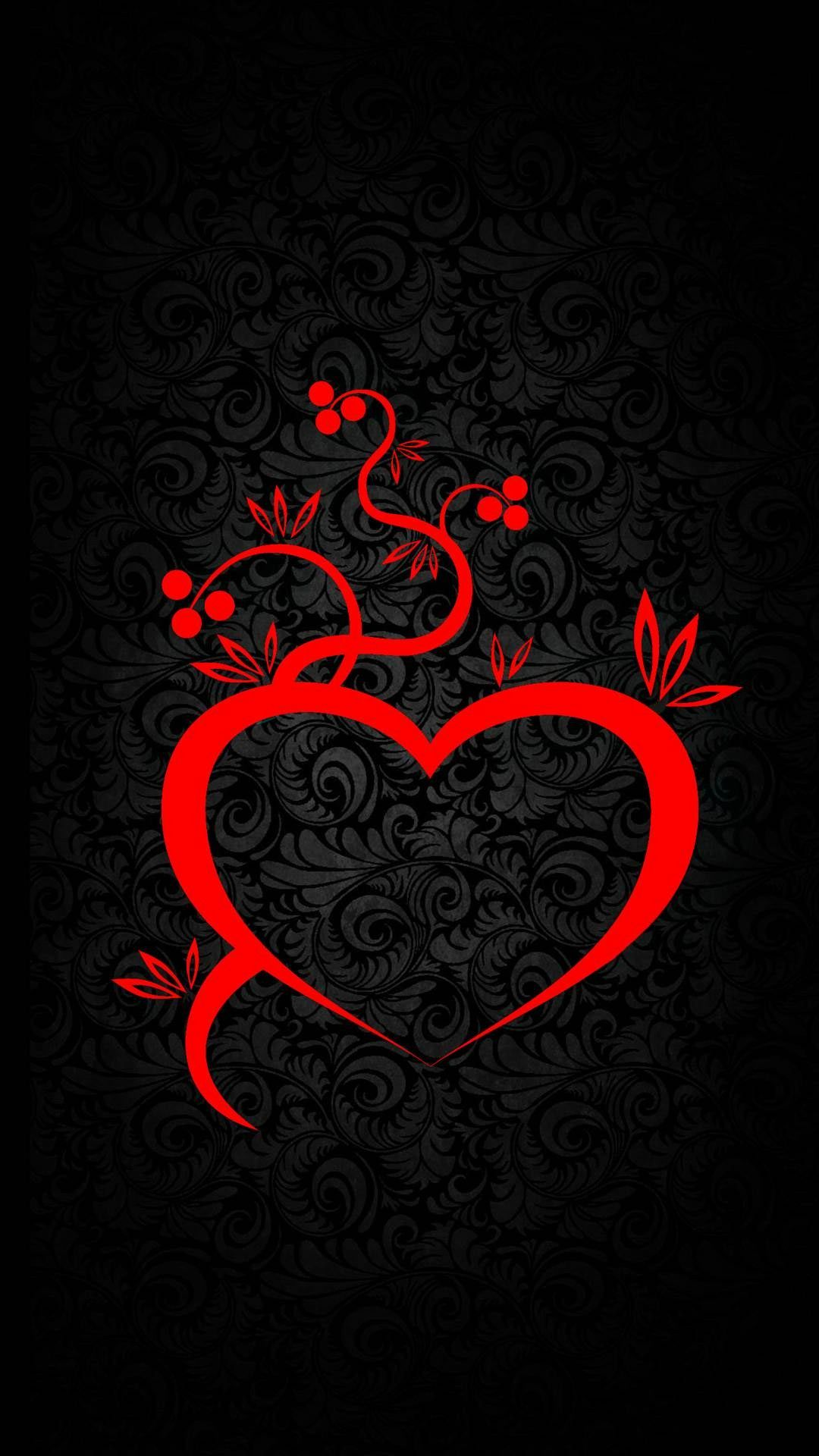 Heart Iphone Wallpaper Heart Wallpaper Red And Black Wallpaper