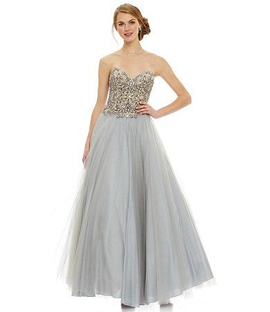 Glamour by Terani couture Antique Beaded Ball Gown Available at ...