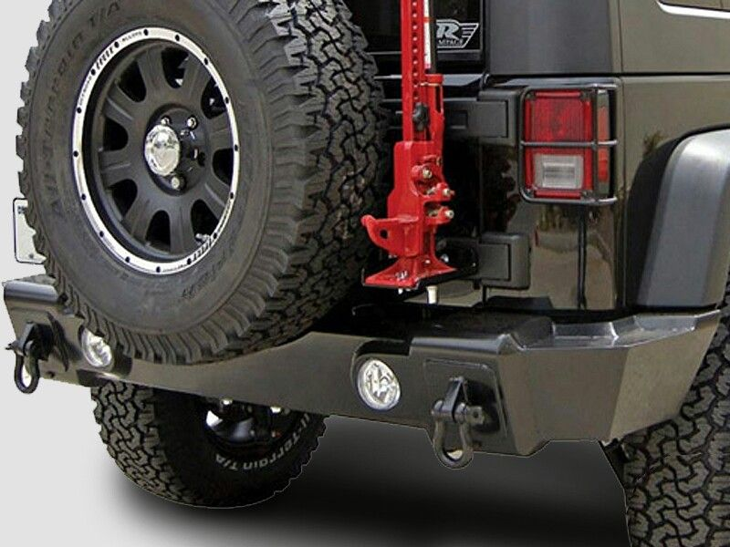 Rampage Products Rear Marathon Bumper with Back-up Lights in