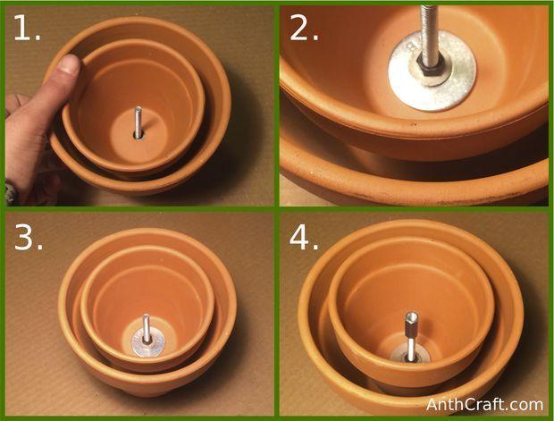 tea candle and ceramic flower pot heater tech. Black Bedroom Furniture Sets. Home Design Ideas