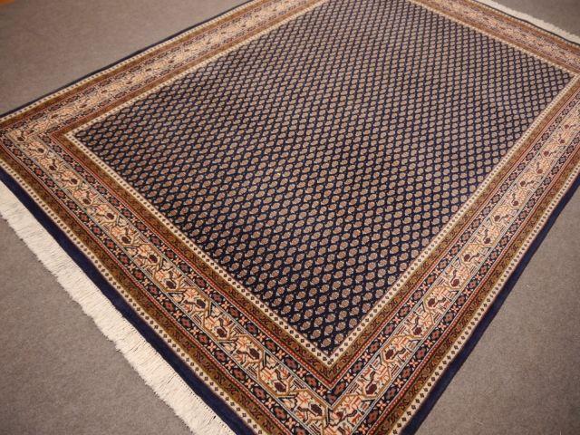 14121 Sarouk Mir Rug India 7 7 X 5 5 Ft 235 X 168 Cm Blue Beige