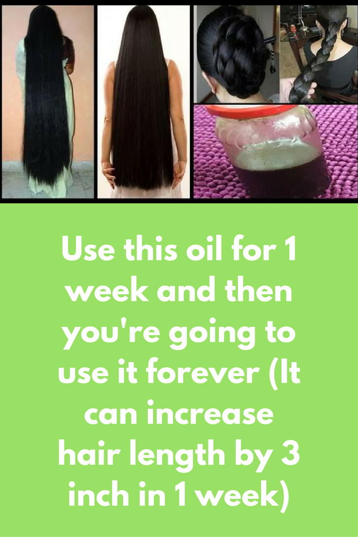 Use This Oil For 1 Week And Then You Re Going To Use It Forever It Can Increase Hair Length By 3 Increase Hair Length Coconut Oil Hair Treatment Hair Lengths