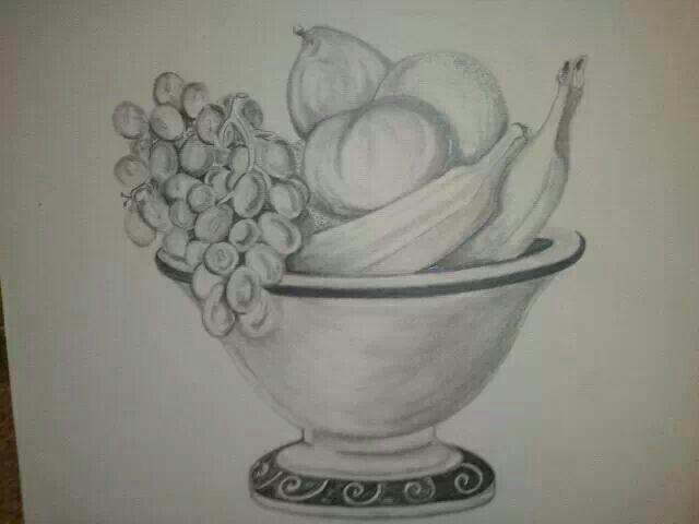 fruit milkshake fruit bowl drawing