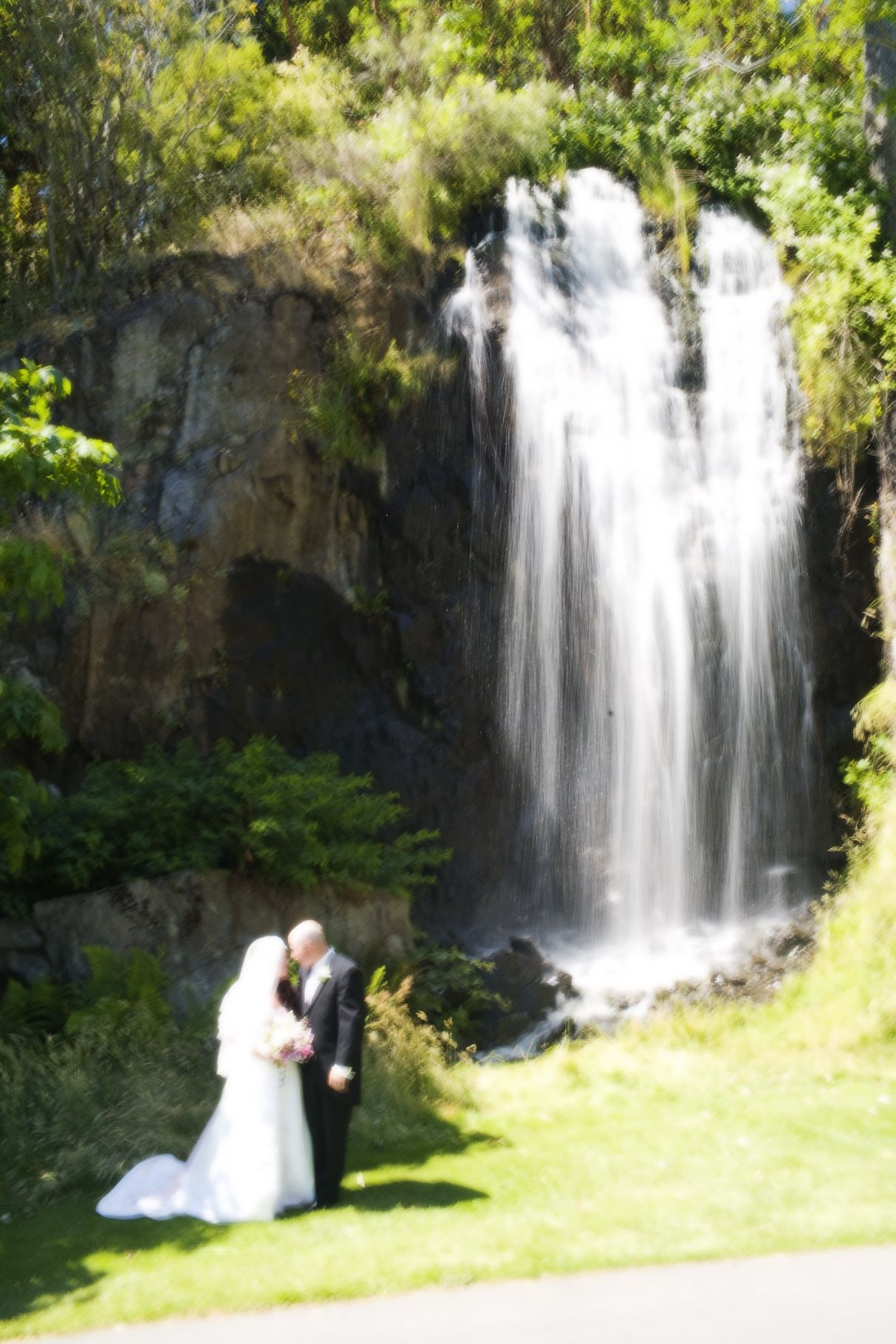Beautiful 40 Foot Waterfall On Hole 17 At Olympic View Wedding Photo Vancouver Island