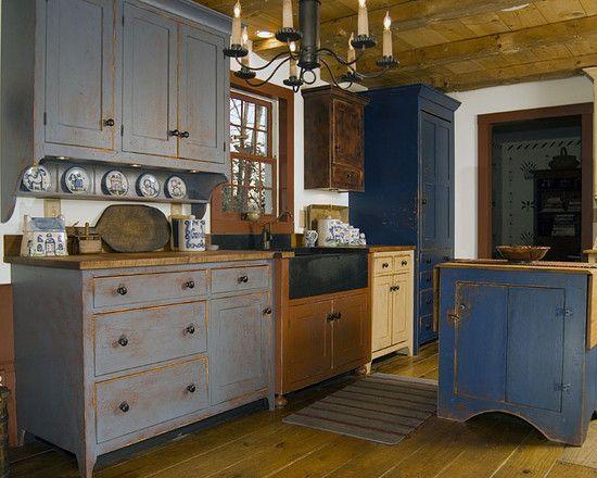 Reproduction Peoria Il Saltbox House Primitive Kitchen Cabinets Saltbox Houses Farmhouse Style Kitchen