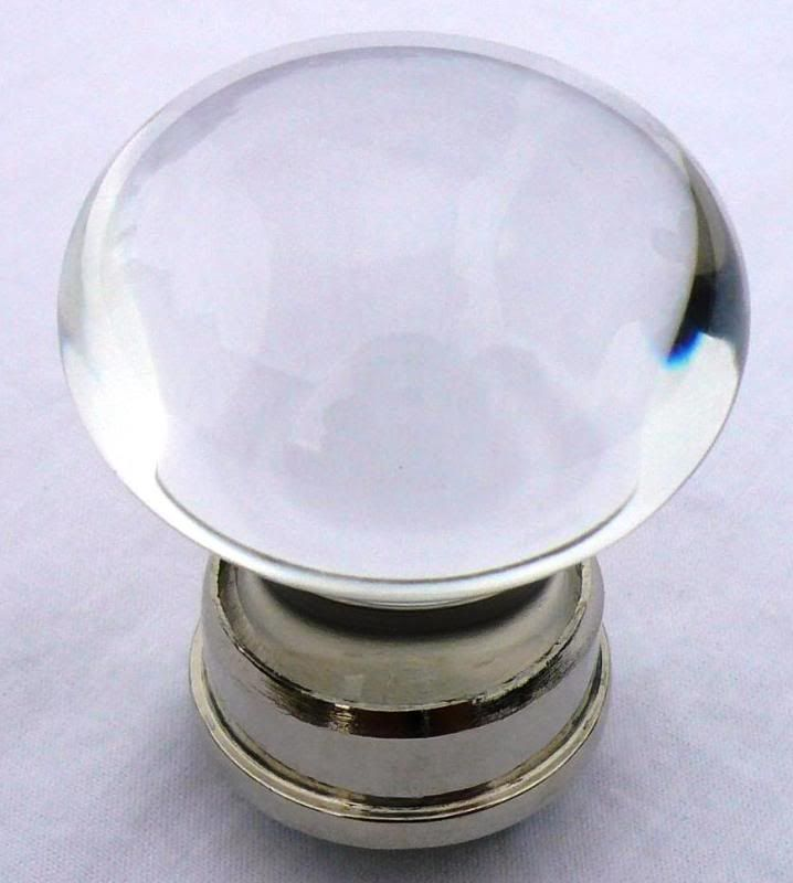 Clear/Nickel - Small Bohemian Crystal Cupboard Door Knob for sale at ...