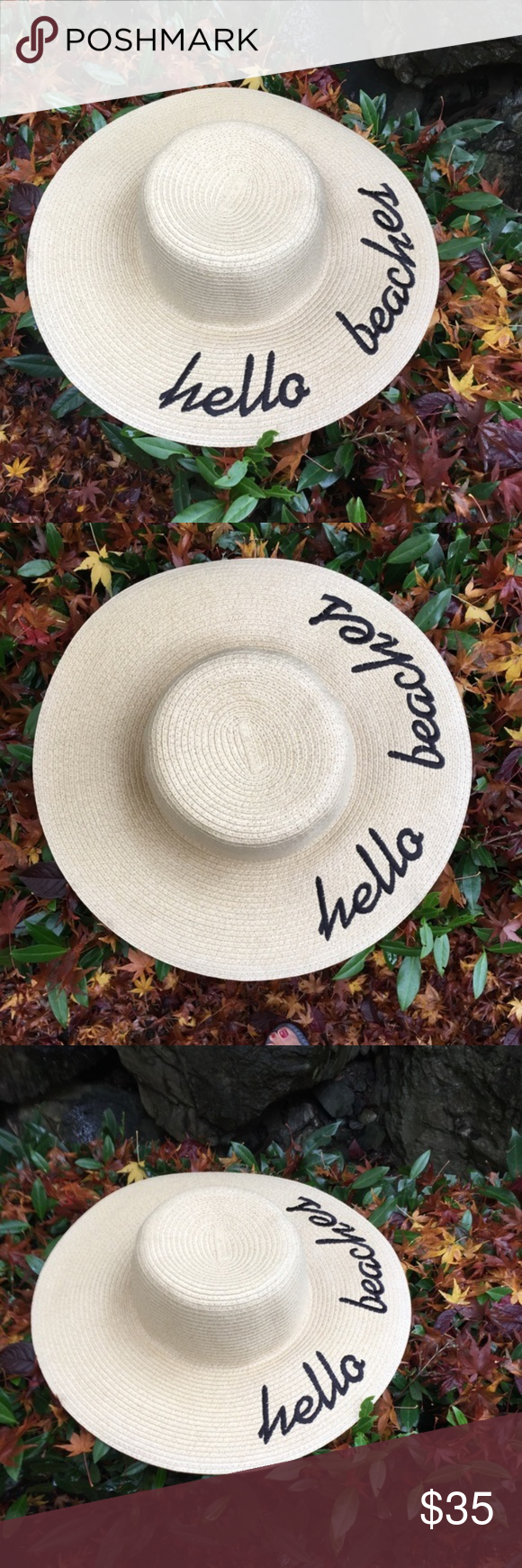 BEACH HAT SOCIAL MEDIA Great hat for social media pictures. One size fits  all. 62e6de14fa3