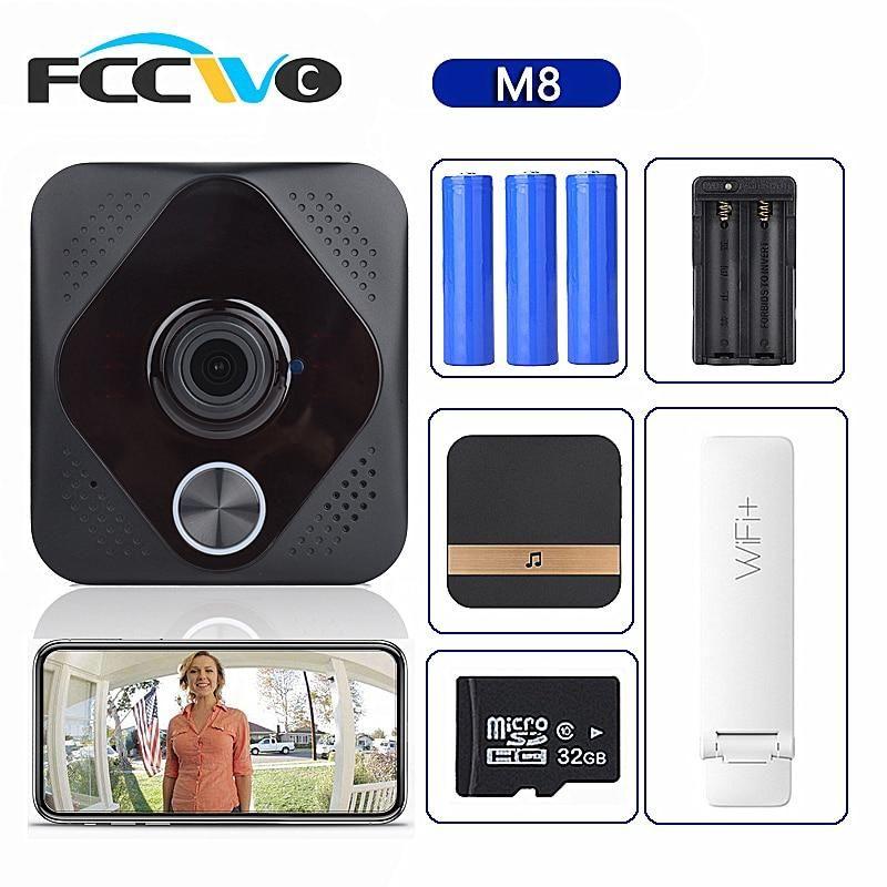 Smart WiFi Video Doorbell Camera Visual Intercom with ...