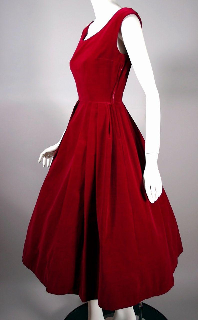 1950s Party Dress Red Velvet Size Xs 50s Cocktail Dress 25 Inch Waist Vintage 1950s Dresses Gowns Vintage 1950s Dresses Vintage Dresses 1960s [ 1280 x 791 Pixel ]