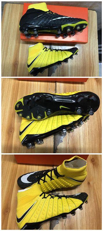 huge discount 2599b 99650 La noir jaune Hypervenom III est également la première chaussure Nike  Football à bénéficier de la toute nouvelle plaque Hyper-Reactive,qui allie  une matière ...