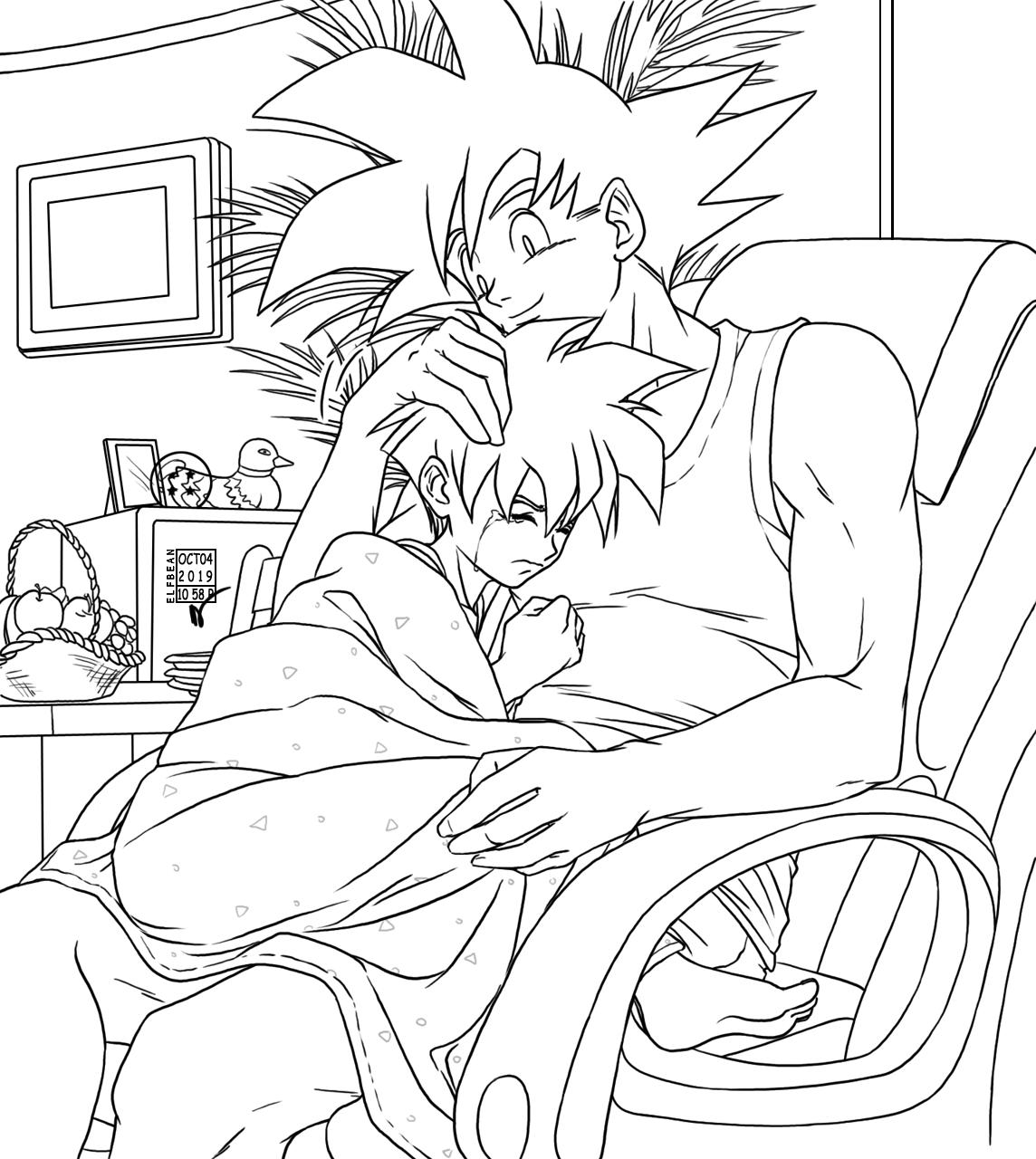 Goku And Gohan Bond A Bit Goku And Gohan Anime Dragon Ball Super Anime Dragon Ball
