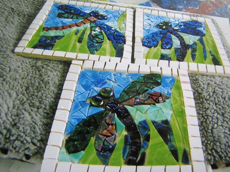 dragon flies by kat gotttke - Fantastisch Mosaik Flie